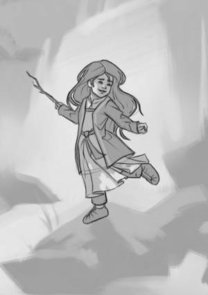 Into the Woods - Sketch (04-2017) by Aliciane
