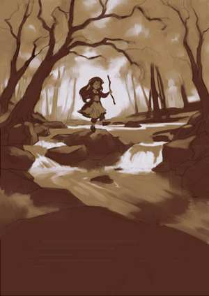Into the Woods - Underpainting by Aliciane