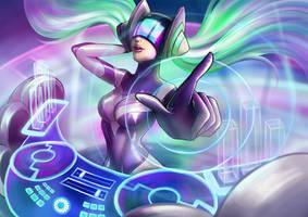 DJ Sona - Kinetic (League of Legends fanart) by maaya-art