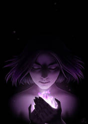 Purple flame (Draw it again challenge) by maaya-art