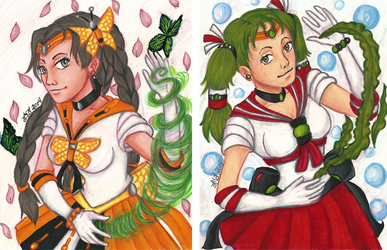 Sailor Theona and Sailor Actaea by anastasia2123