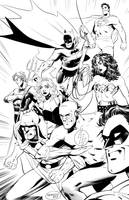 Justice League Inks by GlebTheZombie