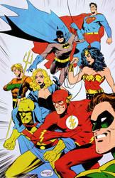 justice league Color by GlebTheZombie