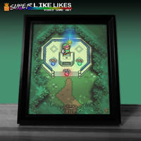 Master Sword Lost Woods Framed Print by likelikes