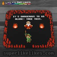 Zelda - It's Dangerous!  Mousepad... by likelikes