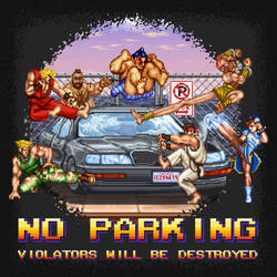 Street Fighter No Parking by likelikes