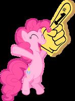 Pinkie Pie cheering by Stinkehund