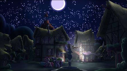 A Ponyville Night by Stinkehund