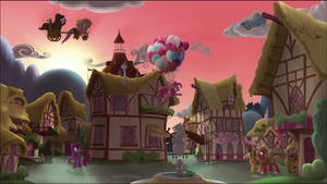 A Ponyville Dawn by Stinkehund