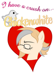 I heart Chickenwhite by Stinkehund