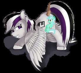 [Commission] Nude Pegasus OC (censored) by Stinkehund