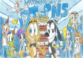 Happy Toon B-Day Doodley with DToons Characters!! by FTFTheAdvanceToonist