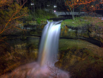 Minnehaha Falls at Night by Austron