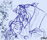 Swirl Beauty and the beast by VPdessin