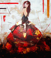 The Lady in Black and Red by thefrenchberet