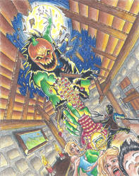 Attack of the Pumpkin Giant by vermithrax40