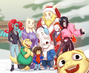 Undertale Chrimmas by lauren-bennett