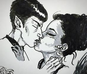 Tiny Kiss sketch 3 by Magzdilla