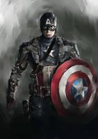 Steve Rogers, Captain America by novicekid