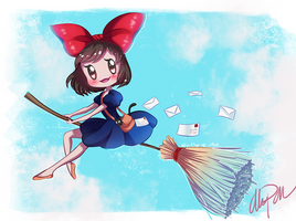 Kiki's delivery service by xaCupofArt