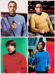 The Big Bang Theory Star Trek by Rabittooth