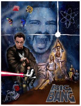 Big Bang Theory Star Wars Poster by Rabittooth