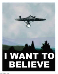 Enterprise X files I Want to Believe Poster by Rabittooth