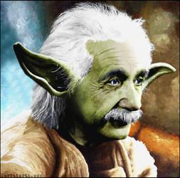 Einstein Yoda by Rabittooth