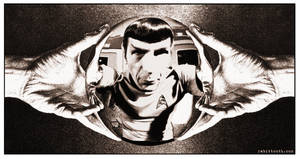 MC Escher Inspired Spock by Rabittooth