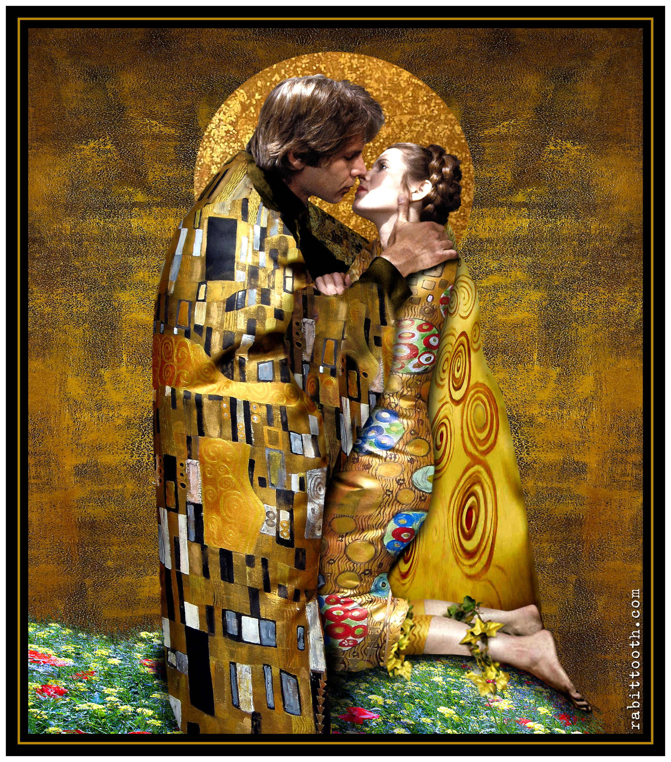 The Kiss (Klimt - Inspired Han / Leia) by Rabittooth