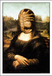 Mona Lisa with Facehugger ( da Vinci / Alien ) by Rabittooth