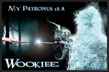 My Patronus is a Wookiee(Potter / Star Wars)w/text by Rabittooth