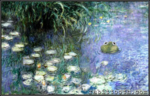 Water Lilies with Frog ( Monet / Muppets ) by Rabittooth