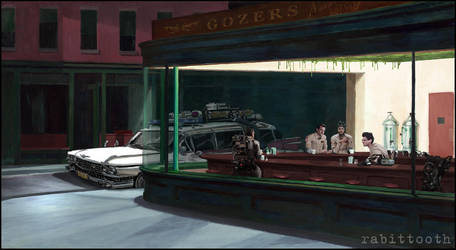 NightBusters ( Nighthawks / Ghostbusters ) by Rabittooth