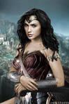Diana Prince (Wonder Woman/Mona Lisa) by Rabittooth