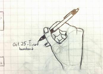 Inktober Hand by banndsand