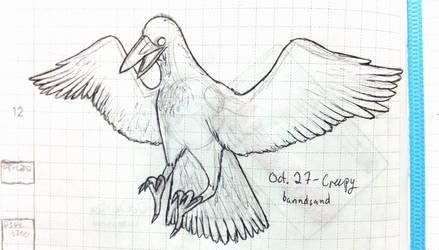 Inktober Bro Crow by banndsand