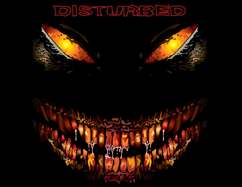 Disturbed Face by foxtalon