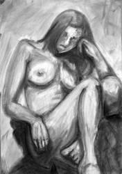 Lounging Female Nude by Kibumi24