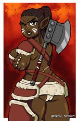 Dark Orc Warrioress by MegaTenshin