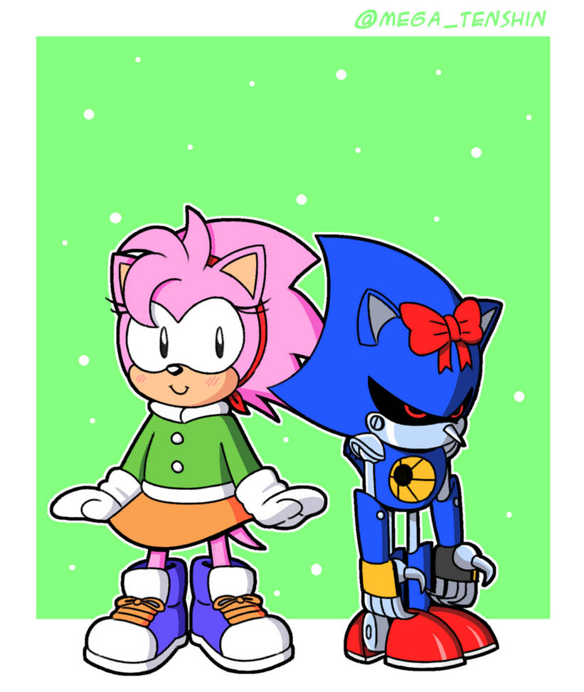 Amy and Metal Sonic by MegaTenshin