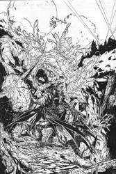 Batman Vs Clayface2 by pyroglyphics1
