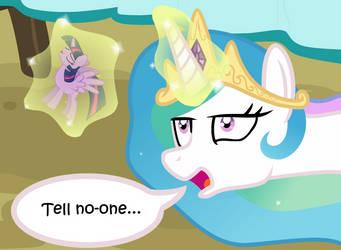 Celestia's Terrible Secret (Comic Preview) by HatBulbProductions
