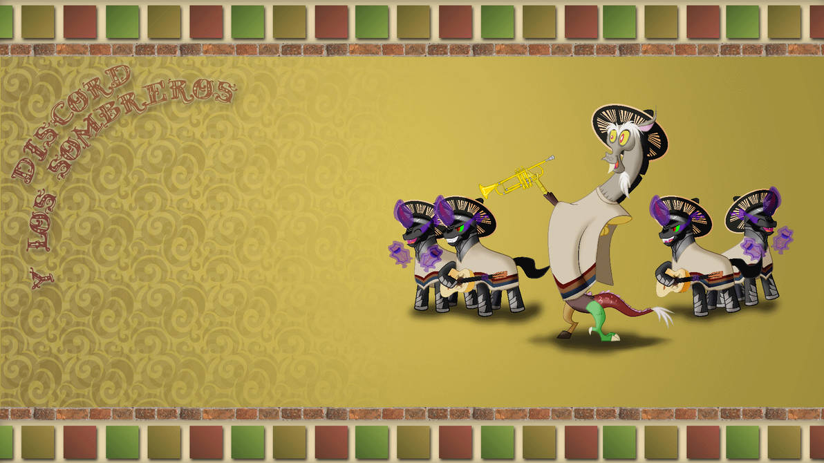 WALLPAPER: Discord and The Sombreros by HatBulbProductions