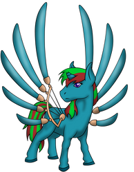 Darkswan (OC Pony Request) by PhilosophyPony