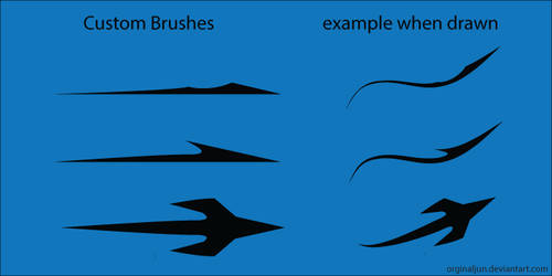 Free Vector Sharp Arrow Art Brushes by orginaljun
