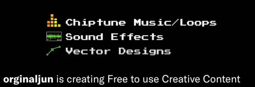 Free Chiptune music, Sound effects, Vector designs by orginaljun