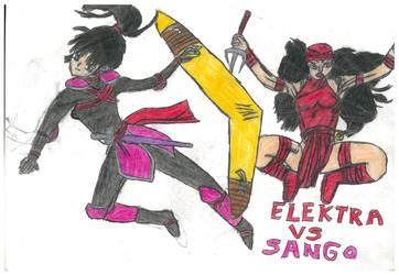 Elektra Vs Sango by thorman