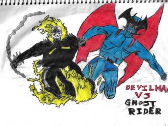 Devilman Vs Ghost Rider by thorman