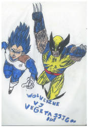 Wolverine Vs Vegeta Ssj God Blue by thorman